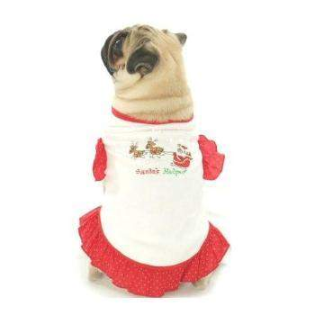 Oscar Newman Santa's Helper Dog Dress-Paws & Purrs Barkery & Boutique