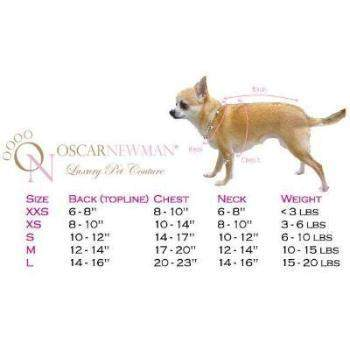 Truly Oscar Pink and Proper Dog Sweater Size Chart