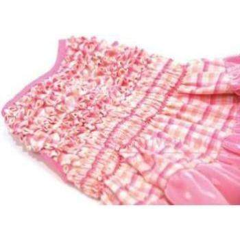 Check Please Hand-Smocked Dog Dress