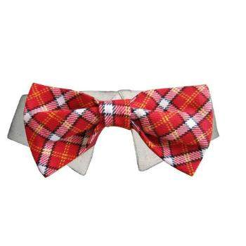 Pooch Outfitters Red Checker Bow Tie & Shirt Collar Set-Paws & Purrs Barkery & Boutique
