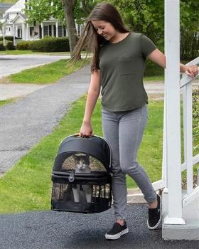 Pet Gear VIEW 360 Black Pet Carrier & Car Seat-Paws & Purrs Barkery & Boutique