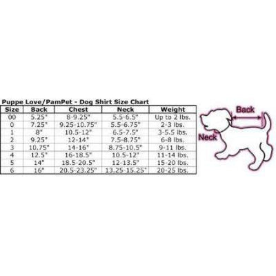 Pampet Puppe Love Costume Size Chart-Paws & Purrs Barkery & Boutique