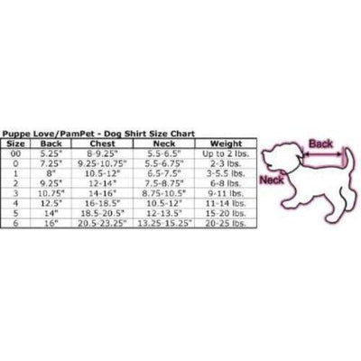 Pampet Puppe Love Dog Halloween Costume Size Chart-Paws & Purrs Barkery & Boutique