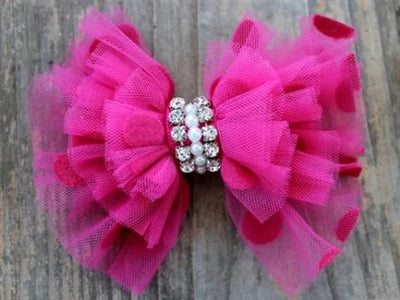 Diva Dog Pink Party Dress Removable Dog Collar Bow-Paws & Purrs Barkery & Boutique
