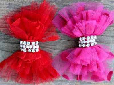 Diva Dog Party Dress Removable Dog Collar Bow-Paws & Purrs Barkery & Boutique