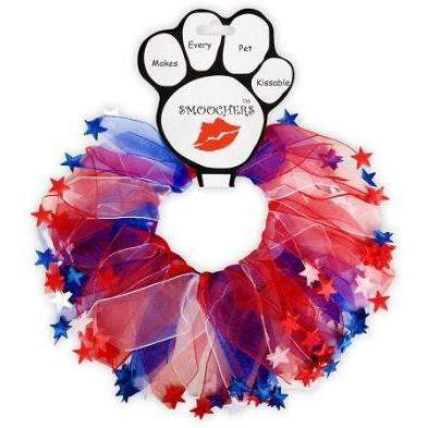Mirage Pet Products Red, White & Blue Star Smoocher Dog Necklace