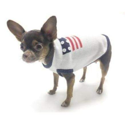 Oscar Newman Patriotic Dog Sweater-Paws & Purrs Barkery & Boutique