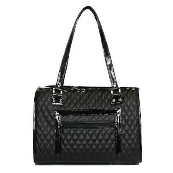 Petote Payton Black Quilted Dog Pet Carrier-Paws & Purrs Barkery & Boutique