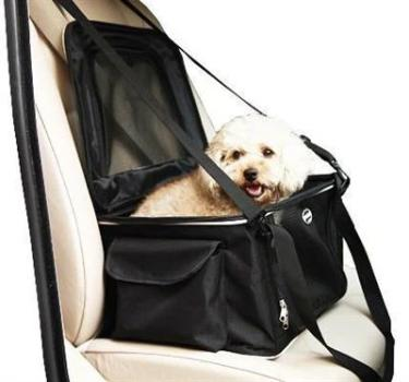 Lightweight Collapsible Pet Travel Car Seat and Carrier.