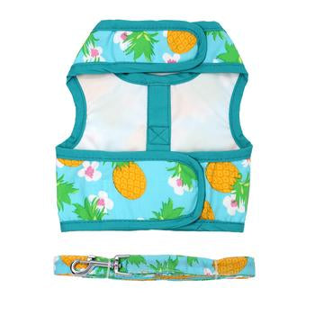 Doggie Design Pineapple Luau Fabric Dog Harness with Leash-Paws & Purrs Barkery & Boutique