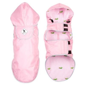 The Worthy Dog Pink Alligator Seattle Slicker Dog Raincoat-Paws & Purrs Barkery & Boutique