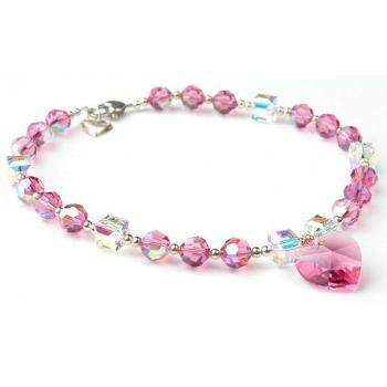 Oscar Newman Pink Ice Dog Necklace