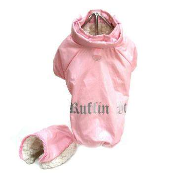 "Doggie Design Pink ""Ruffin It"" Dog Snow Suit -Paws & Purrs Barkery & Boutique"