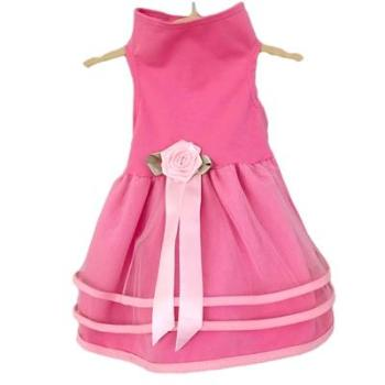 Daisy & Lucy Pink Tulle Dog Dress-Paws & Purrs Barkery & Boutique