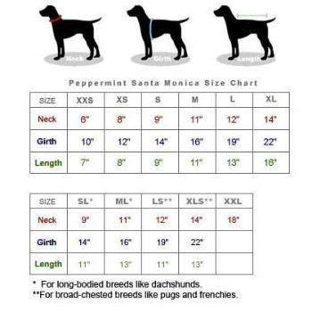 Pooch Outfitters Size Chart - Paws & Purrs Barkery & Boutique