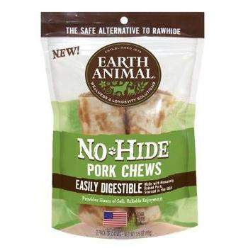 "Earth Animal No Hide Pork Chews Dog Treats (4"")-2 Pack-Paws & Purrs Barkery & Boutique"