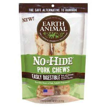 "Earth Animal No Hide Pork Chews Dog Treats (7"")-2 Pack-Paws & Purrs Barkery & Boutique"