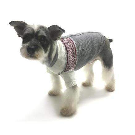 Oscar Newman Prep School Jacquard Dog Sweater-Paws & Purrs Barkery & Boutique