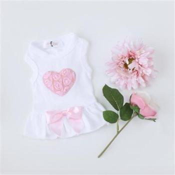 Hello Doggie Pink Puff Heart Dog Dress-Paws & Purrs Barkery & Boutique