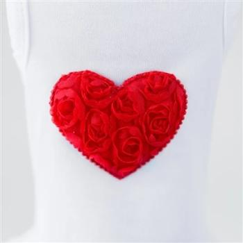 Hello Doggie Red Puff Heart Dog Dress-Paws & Purrs Barkery & Boutique