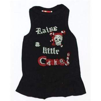 The Dog Squad Raise a Little Cane Black Christmas Dog Dress-Paws & Purrs Barkery & Boutique
