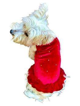 Red Velvet Twinkle Tutu Dog Dress