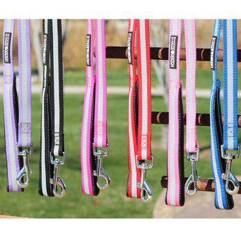Reflective Nylon Dog Leash with Soft Grip Handle.