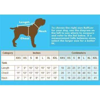 RuffLuv NYC Size Chart-Paws & Purrs Barkery & Boutique
