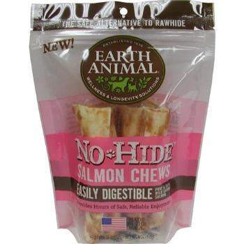 Earth Animal No Hide Salmon Chews Dog Treats-Paws & Purrs Barkery & Boutique