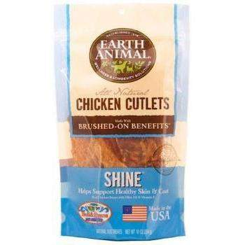 Earth Animal Shine Chicken Cutlet Dog Treat 8oz-Paws & Purrs Barkery & Boutique