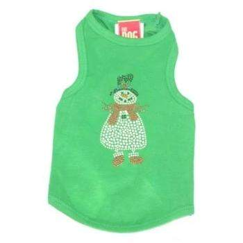 Dog Squad Snowman Green Christmas Dog Tank-Paws & Purrs Barkery & Boutique