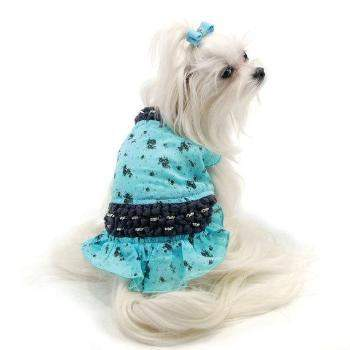 Oscar Newman St. Tropez Knotted Dog Dress-Paws & Purrs Barkery & Boutique