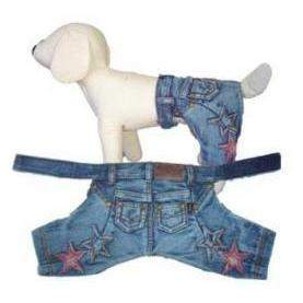Pampet Puppe Love Denim Stars Dog Pants-Paws & Purrs Barkery & Boutique