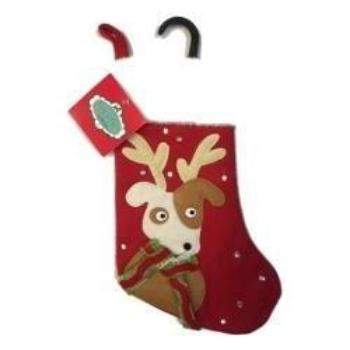 Canine Brands Dog with Antlers Dog Christmas Stocking-Paws & Purrs Barkery & Boutique