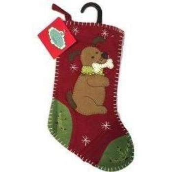 Dog with Bone Christmas Stocking.