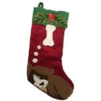 Canine Brands Dog Dreaming Dog Christmas Stocking-Paws & Purrs Barkery & Boutique