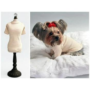 Hello Doggie Striped Baby Dog Tee-Paws & Purrs Barkery & Boutique