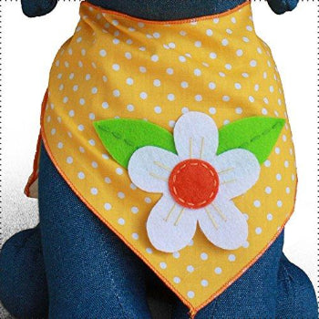 Tail Trends Daisy Flower Yellow Dog Bandana-Paws & Purrs Barkery & Boutique