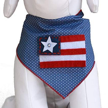 American Flag Dog Bandana.
