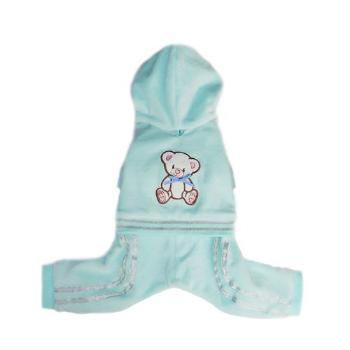 Pooch Outfitters Teddy Dog Jumper Track Suit - Blue-Paws & Purrs Barkery & Boutique