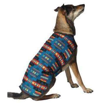 Chilly Dog Turquoise Southwest Blanket Dog Coat-Paws & Purrs Barkery & Boutique