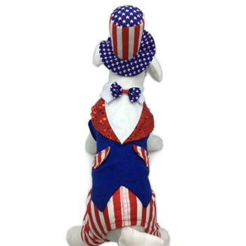 Pampet Puppe Love Uncle Sam Patriotic Dog Costume-Paws & Purrs Barkery & Boutique