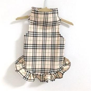 Daisy & Lucy London Plaid Wrapper Dog Dress Dog Dress-Paws & Purrs Barkery & Boutique