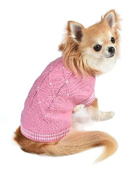 Oscar Newman V.I.Pink Dog Sweater-Paws & Purrs Barkery & Boutique