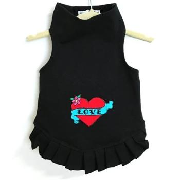 Daisy & Lucy Valentine Love with Red Heart Dog Dress-Paws & Purrs Barkery & Boutique