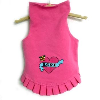 Daisy & Lucy Valentine Love with Pink Heart Dog Dress-Paws & Purrs Barkery & Boutique