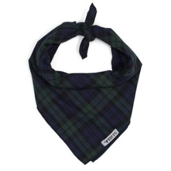 The Worthy Dog Black Watch Plaid Tie Dog Bandana-Paws & Purrs Barkery & Boutique
