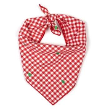 Worthy Dog Check Trees Tie-On Dog Bandana-Paws & Purrs Barkery & Boutique