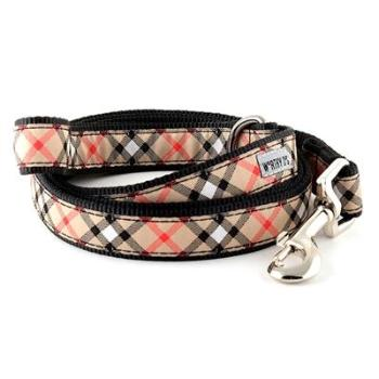 The Worthy Dog Bias Tan Plaid Dog Collar-Paws & Purrs Barkery & Boutique