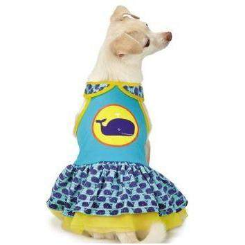 Whale Tails Dog Dress with SPF 40.